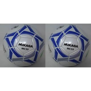 ミカサ(MIKASA)のミカサ サッカーボール 5号 日本サッカー協会 検定球 2個 MC55-WBLN(ボール)
