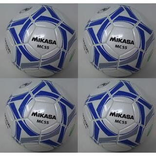 ミカサ(MIKASA)のミカサ サッカーボール 5号 日本サッカー協会 検定球 4個 MC55-WBLN(ボール)