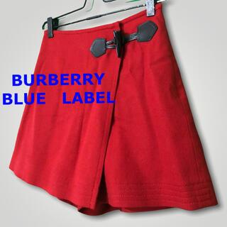 バーバリーブルーレーベル(BURBERRY BLUE LABEL)のBURBERRY バーバリー ブルーレーベル 巻きスカート風ショートパンツ 36(ショートパンツ)