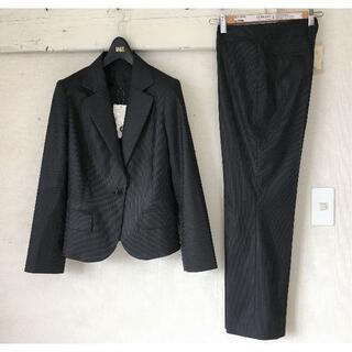 アンタイトル(UNTITLED)のS166★新品アンタイトル パンツスーツ上2下3未使用 M~L黒 濃紺 面接(スーツ)