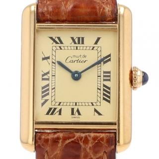 Cartier - カルティエ マストタンク 5057001 クォーツ レディース 【中古】