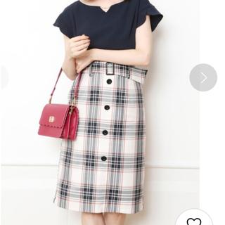 リランドチュール(Rirandture)のリラ チェックスカート(ひざ丈スカート)