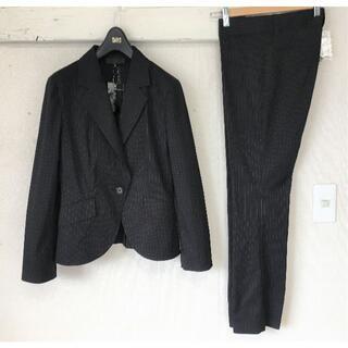 アンタイトル(UNTITLED)のS167★新品 洗えるアンタイトル パンツスーツ2未使用 M(38) 黒 面接(スーツ)