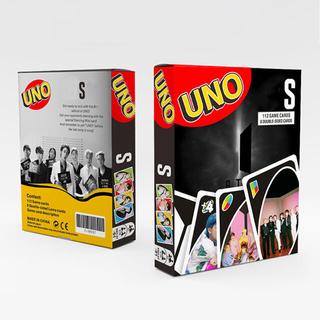 【訳あり•再入荷】大人気 BTS♡全員 ブラックUNOウノ120枚 カードゲーム(トランプ/UNO)