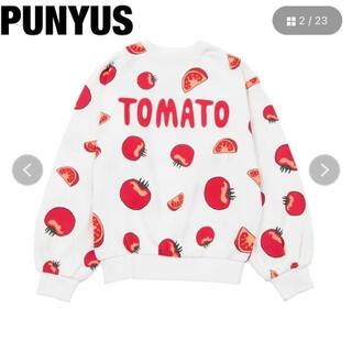 プニュズ(PUNYUS)の☆ 大人気 ☆プニュズ トマト TOMATO トレーナー フード 総柄(トレーナー/スウェット)