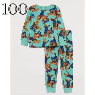 エイチアンドエム(H&M)の《最新作》新品未開封 パウパトロール パジャマ 長袖 100/105(パジャマ)