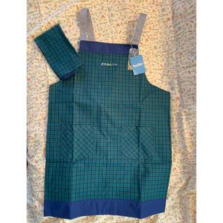 familiar - ファミリア キッズ エプロン 三角巾付き 140〜160