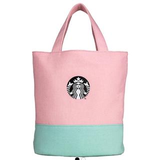 Starbucks Coffee - スターバックス Starbucks マカロンピンク トートバッグ