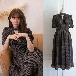 snidel - Herlipto striped bubble sleeve dress