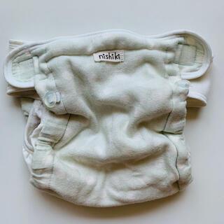 ニシキベビー(Nishiki Baby)のニシキ 布オムツカバー 水色 ドット 内ベルト 70 80 90 95(布おむつ)