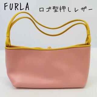 フルラ(Furla)のFURLA/フルラ ロゴ型押しレザー リボン ハンドバッグ(ハンドバッグ)