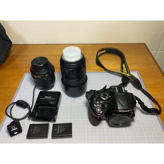 Nikon - nikon d5200 標準ズームレンズ18-55 望遠レンズ55-300