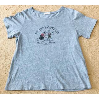アースミュージックアンドエコロジー(earth music & ecology)のearth music&ecology ポパイ オリーブ Tシャツ フリーサイズ(Tシャツ(半袖/袖なし))