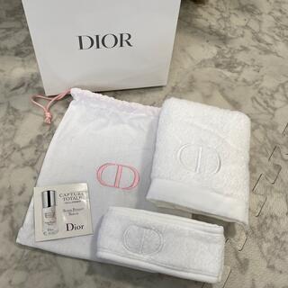 Christian Dior - ディオール ノベルティ タオル ヘアバンド 巾着ポーチ