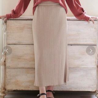 マジェスティックレゴン(MAJESTIC LEGON)のキラキララメニットスカート 新品(ロングスカート)