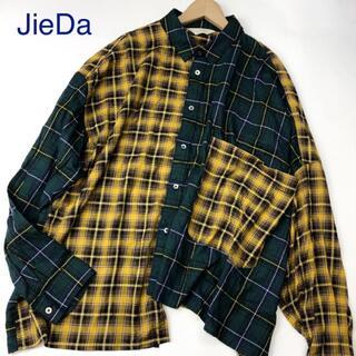 Jieda - JieDa ジエダ アシンメトリー バックスリット長袖シャツ 3073