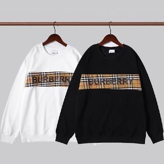 BURBERRY - 2枚1000円引 BURBERRY#090401 ロゴ付き スウェット  新品