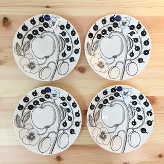 マリメッコ(marimekko)のアラビア ブラックパラティッシ プレート 16.5cm 4枚セット(食器)