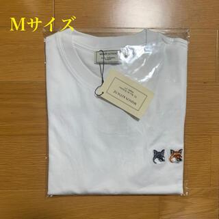 メゾンキツネ(MAISON KITSUNE')のメゾンキツネ ダブルフォックスヘッドパッチ Tシャツ 白 Mサイズ(Tシャツ/カットソー(半袖/袖なし))
