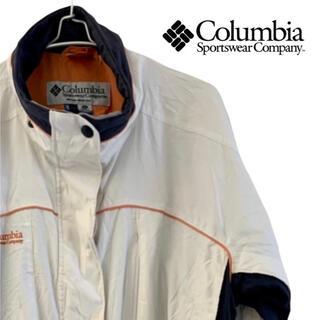 コロンビア(Columbia)のColumbia コロンビア マウンテンパーカー ナイロンジャケット XL 白(ナイロンジャケット)