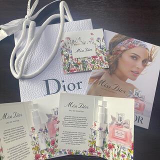 クリスチャンディオール(Christian Dior)のミスディオール ディオール 香水 サンプル 紙袋(香水(女性用))