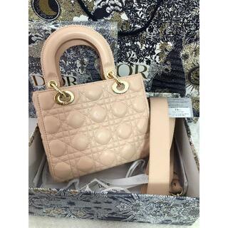 クリスチャンディオール(Christian Dior)の美品Diorレディディオール バッグ ベビーピンク(ショルダーバッグ)