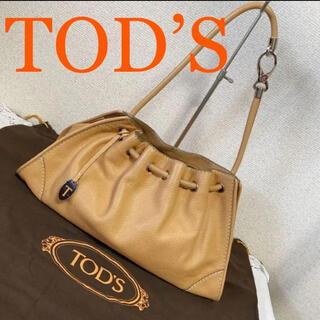 トッズ(TOD'S)のTOD'S トッズ ワンショルダーバッグ キャメル レザーバッグ(ショルダーバッグ)