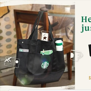 Starbucks Coffee - 【非売品】スタバ大容量トートバッグ