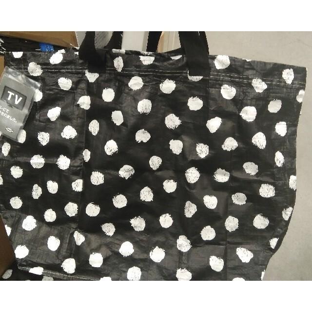 IKEA(イケア)のIKEA イケア 春の新作♪黒猫柄 エコバッグ S&Mサイズ2枚 レディースのバッグ(エコバッグ)の商品写真