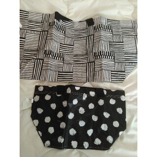 IKEA - IKEA イケア 春の新作♪黒猫柄 エコバッグ S&Mサイズ2枚