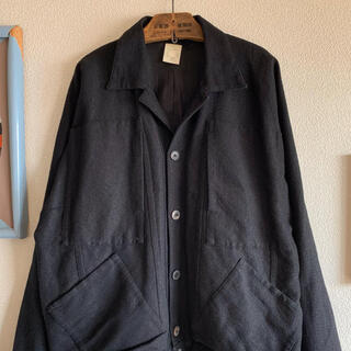 DRIES VAN NOTEN - jan jan van essche 和紙ウールジャケット ブルゾン コート 黒