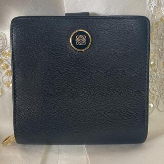 LOEWE - 綺麗!LOEWE ロエベ 二つ折り財布 折財布 黒 アナグラム柄