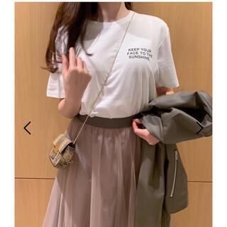 スナイデル(snidel)のチャリティーフォトTシャツ(Tシャツ(半袖/袖なし))