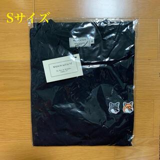 メゾンキツネ(MAISON KITSUNE')のメゾンキツネ ダブルフォックスヘッドパッチ Tシャツ 黒 Sサイズ(Tシャツ/カットソー(半袖/袖なし))