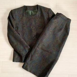 グリモワール(Grimoire)のVintage 90s ペイズリー柄ジャケット スカート セットアップ(セット/コーデ)
