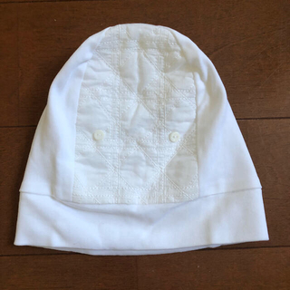 ベビーディオール(baby Dior)の【新品未使用】baby Dior 純白の帽子(帽子)