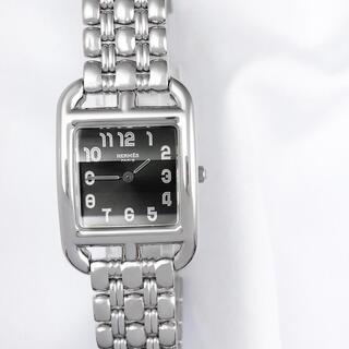 Hermes - 【保証書付】エルメス ケープコッド 黒文字盤 ブレス レディース 腕時計