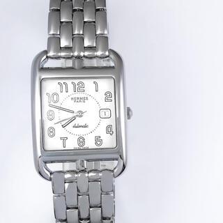 Hermes - 【保証書付】エルメス ケープコッド デイト ブレス シルバー メンズ 腕時計