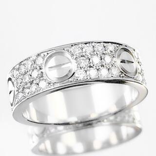 Cartier - 【仕上済】カルティエ ラブリング 10号 WG 50 ダイヤ 指輪 リング