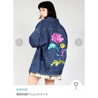 プニュズ(PUNYUS)のPUNYUS  バラ刺繍 デニムジャケット(Gジャン/デニムジャケット)