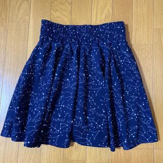 スカート キュロット 150  160 紺 ネイビー 星柄 インナーパンツ付き