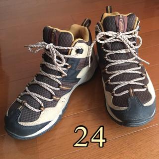 コロンビア☆24cmトレッキングシューズ 登山靴オムニテックキャンプアウトドア