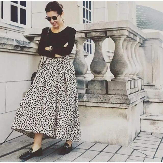 IENA(イエナ)のVERMEIL par iena レオパードプリントタックフレアスカート大草直子 レディースのスカート(ロングスカート)の商品写真