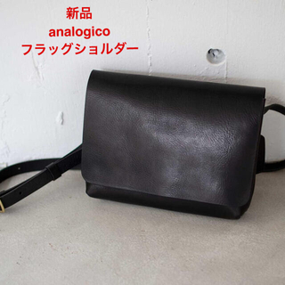HERZ - 新品 アナロジコ analogico フラッグショルダー バッグ ブラック