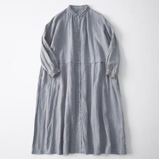 ネストローブ(nest Robe)のnestrobe☆リネンレース襟ギャザーワンピース(ロングワンピース/マキシワンピース)