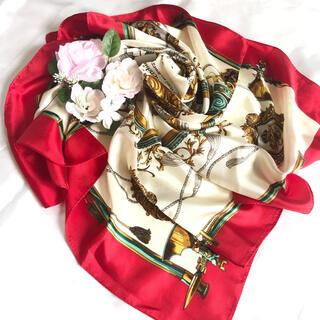 シルク100% 大判スカーフ 日本製 ヨーロッパ調