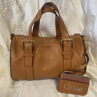 Chloe - Chloe クロエ ハンドバッグ 筒型レザーバッグ キャメル
