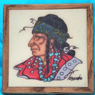 ゴローズ(goro's)のヴィンテージ インディアン 木枠石作り ディスプレイ(彫刻/オブジェ)