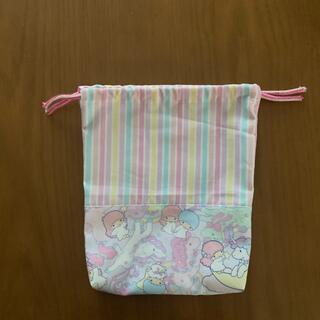 ゆめかわストライプ☆コップ袋(外出用品)