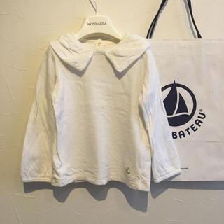 PETIT BATEAU - 美品【プチバトー】襟付きカットソー 3ans/95cm